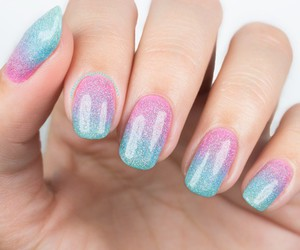 girly, gradient, and nail design image