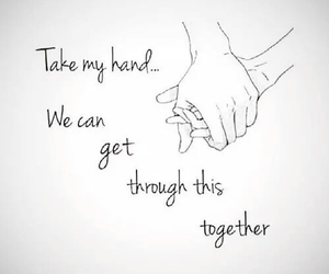 hold my hand, do it together, and feel my heartbeat image