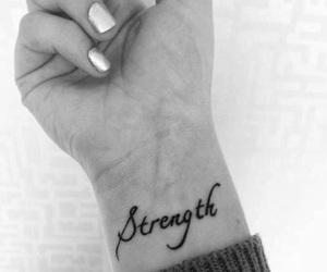 tattoo, strength, and wrist image