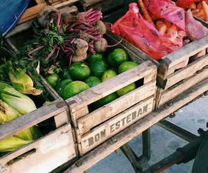 green, shop, and vegetables image