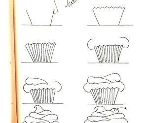 cupcake, art, and draw image
