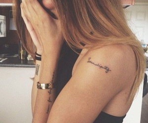 girls, Tattoos, and cute image