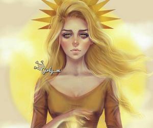 girly_m, sun, and art image