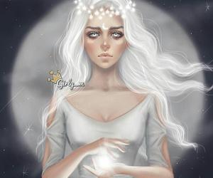 girly_m, moon, and art image