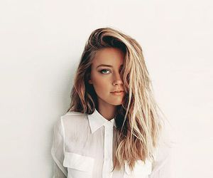 hair, amber heard, and blonde image