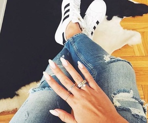 nails, adidas, and fashion image