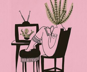 valfre, art, and cactus image