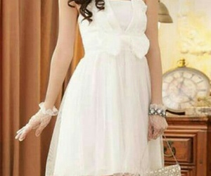 dress, ♡, and white image