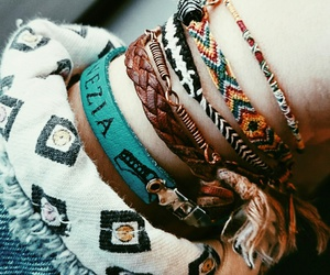 blue, indie, and bracelets image