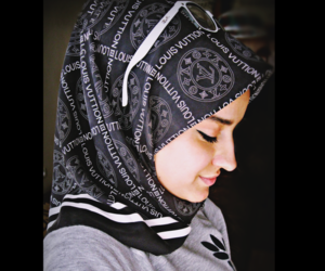 black and white, hijab, and goodday image