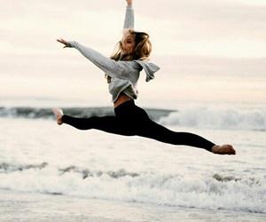 beach, dance, and sea image