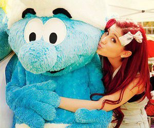 ariana grande, smurf, and red hair image