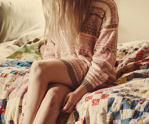blonde, colours, and sweater image