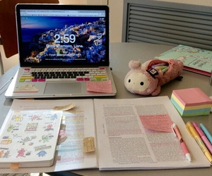 study, book, and computer image