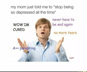 funny and depressed image