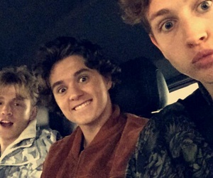 brad, the vamps, and bradley will simpson image