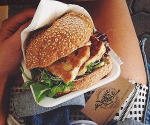 food, burger, and hamburger image