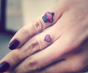 tattoo, cupcake, and heart image