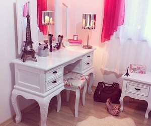 bedroom, decoration, and girly image
