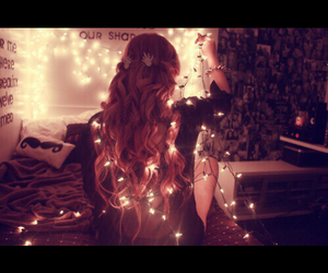 lights and girl image