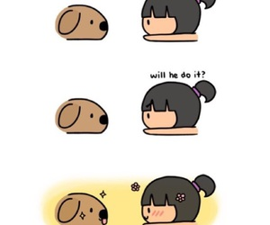 dog, chibird, and cute image