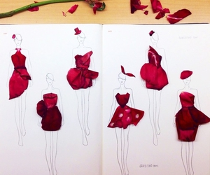 flowers, dress, and rose image