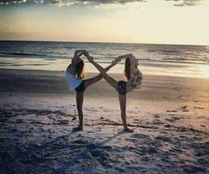 beach, friends, and infinity image