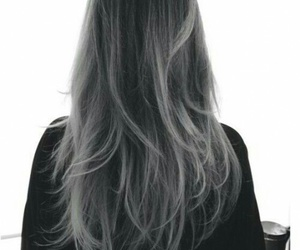 hair, grey, and beauty image
