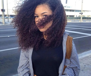 girl, hair, and curly hair image