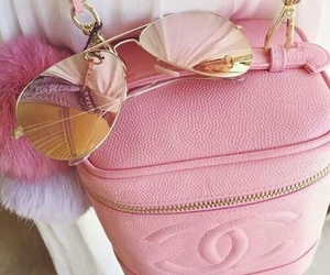 pink, chanel, and sunglasses image