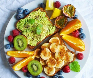 avocado, banana, and breakfast image