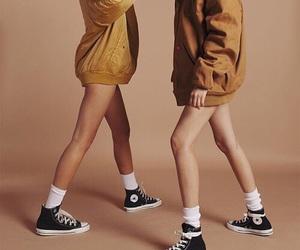 converse, brown, and indie image