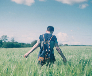 boy, fashion, and field image