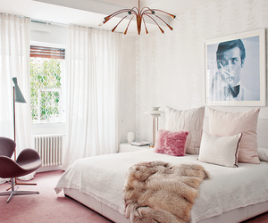 bedroom, chic, and pink image