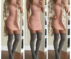 fashion, grey, and pink image