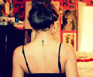 back, neck, and tattoo image