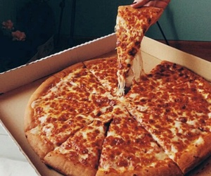 OMG, pizza, and yummy image