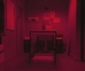 header, dark, and red image