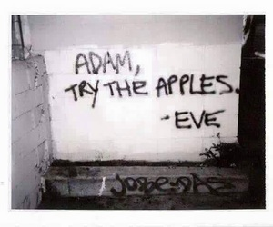 adam, eve, and Letter image