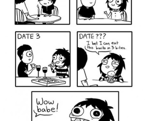 funny, date, and food image