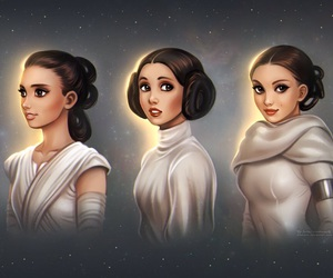 star wars, rey, and padmé image