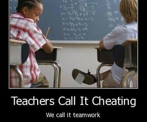 school, teamwork, and funny image