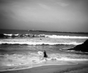 beach, black and white, and inspiration image