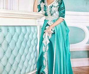 dress, caftan, and maroc َ image