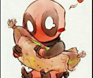 deadpool, hotdog, and Marvel image
