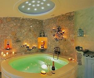 bathroom, luxury, and santorini image