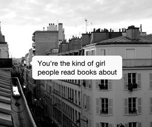 book, girl, and quotes image