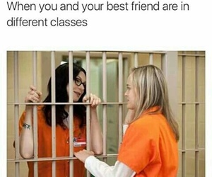 school, funny, and best friends image
