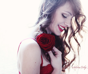 photography, smile, and red image
