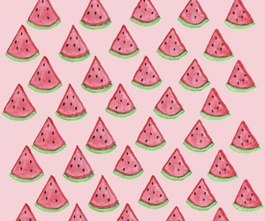 pink, wallpaper, and watermelon image